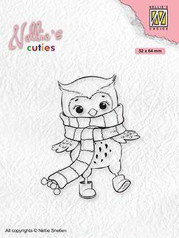 Stempel / Owl with winter scarf / Nellie Snellen