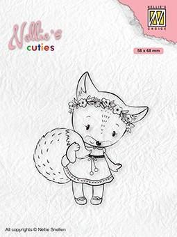 Stempel / Foxy Christmas Lady / Nellie Snellen