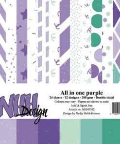 Karton 15x15 cm / All in one-purple / NHH Design