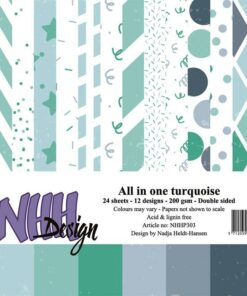Karton 15x15 cm / All in one-Turqouise / NHH Design