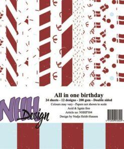 Karton 15x15 cm / Fødselsdag / NHH Design