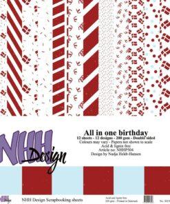 Karton 30,5x30,5 cm / Fødselsdag / NHH Design