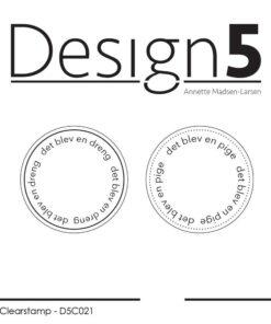 Stempel / Circles - En dreng og en pige / Design5