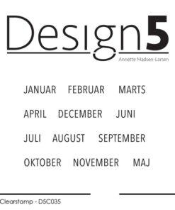 Stempel / måneder / Design5