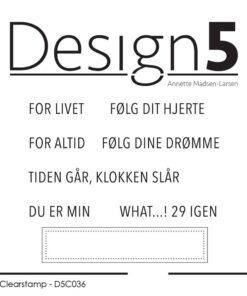 Stempel / Danske tekster / Design5