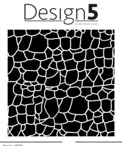 Stencil / Stone wall / Design5