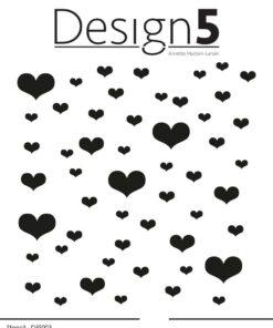 Stencil / hearts / Design5
