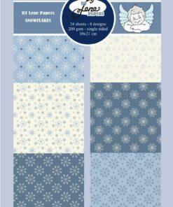 Karton slimcard / Snowflakes / By Lene