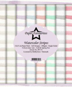 Karton 15x15 cm / Watercolor stripes / Paper favourites