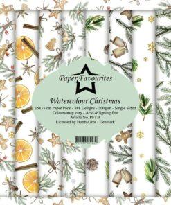 Karton 15x15 cm / Watercolour Christmas / Favourites