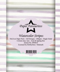 Karton slimcard / Watercolor stripes / Paper favourites