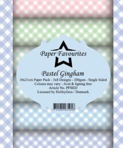 Karton 15x15 cm / Pastel Gingham / Paper favourites