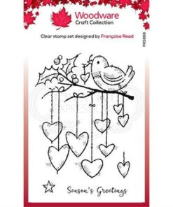 Stempel / Hanging hearts / Woodware