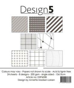 Karton 15x15 cm / Grey cromosphere / Design5