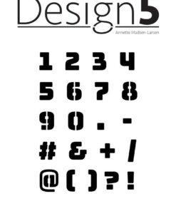 Stencil / Numbers / Design5