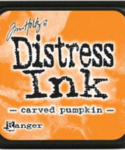 Distress ink mini / Carved pumpkin