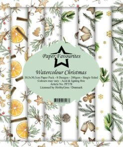Karton 30,5x30,5 cm / Watercolour Christmas