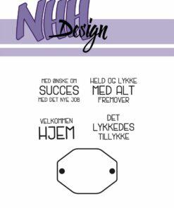 Stempel / Skilt m. danske tekster / NHH Design