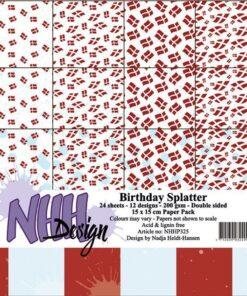 Karton 15x15 cm / Birthday splatter / NHH Design