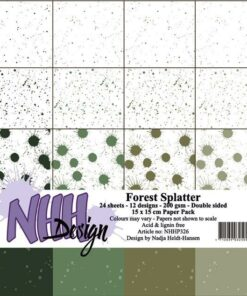 Karton 15x15 cm / Forest splatter / NHH Design