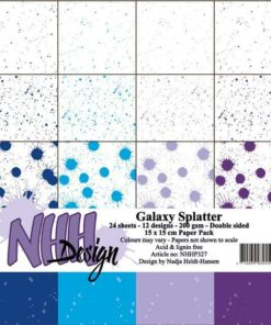 Karton 15x15 cm / Galaxy splatter / NHH Design