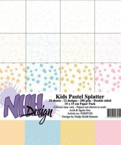 Karton 15x15 cm / Kids pastel splatter / NHH Design