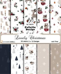Karton 15x15 cm / Lovely Christmas / Felicita