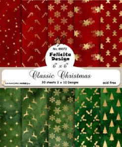 Karton 15x15 cm / Classic Christmas / Felicita