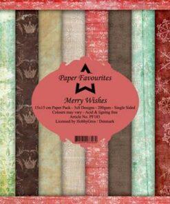 Karton 15x15 cm / merry Whishes / Paper Favourites