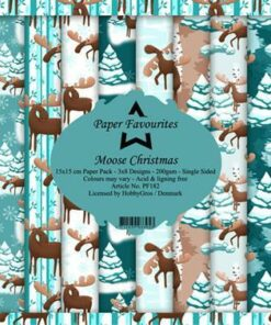 Karton 15x15 cm / Moose Christmas / Paper Favourites