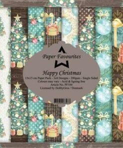 Karton 15x15 cm / Happy Christmas / Paper Favourites